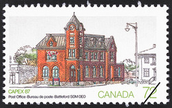 Post Office, Battleford, S0M 0E0 Canada Postage Stamp | CAPEX 87