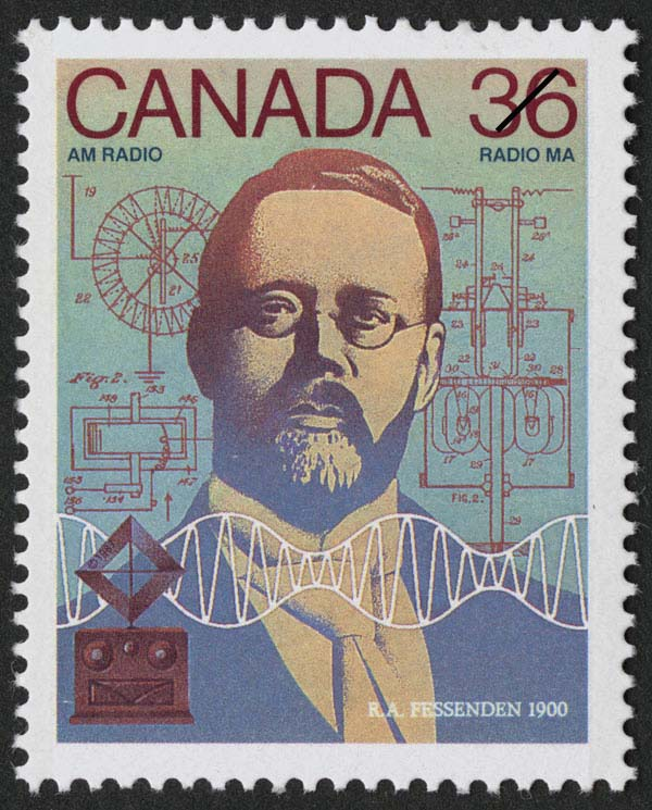 AM Radio, R.A. Fessenden, 1900 Canada Postage Stamp | Canada Day - Science and Technology, Canadian Innovations in Communications