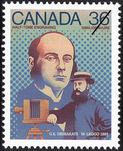 Half-tone Engraving, G.E. Desbarats, W. Leggo, 1869 Canada Postage Stamp | Canada Day - Science and Technology, Canadian Innovations in Communications