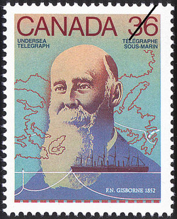 Undersea Telegraph, F.N. Gisborne, 1852 Canada Postage Stamp | Canada Day - Science and Technology, Canadian Innovations in Communications