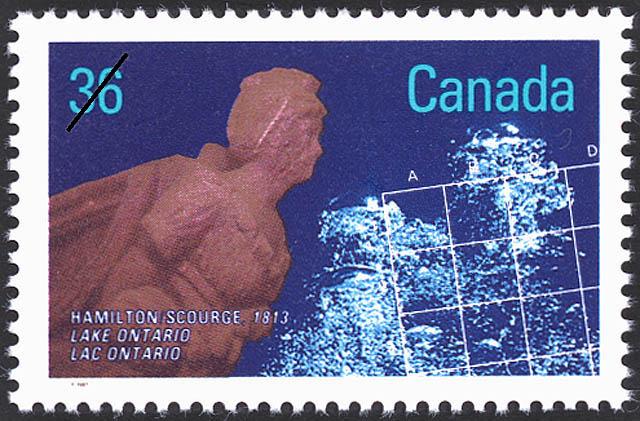 Hamilton, Scourge, 1813, Lake Ontario Canada Postage Stamp