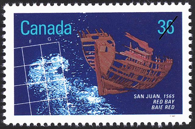 San Juan, 1565, Red Bay Canada Postage Stamp