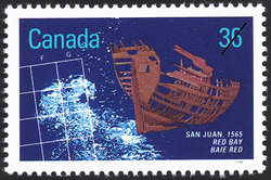 San Juan, 1565, Red Bay Canada Postage Stamp | Historic Shipwrecks