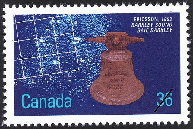 Ericsson, 1892, Barkley Sound Canada Postage Stamp | Historic Shipwrecks