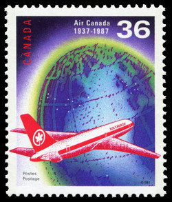 Air Canada, 1937-1987 Canada Postage Stamp