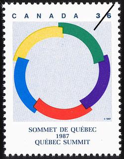Quebec Summit, 1987 Canada Postage Stamp