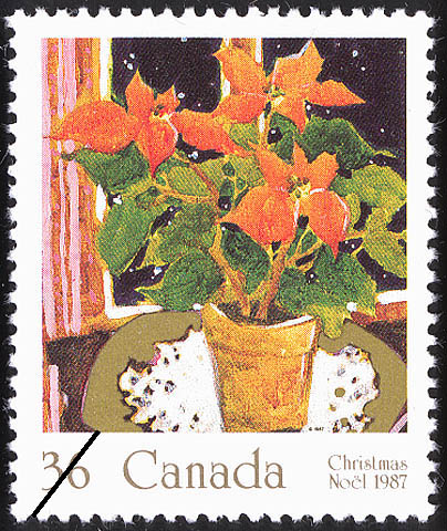 Poinsettia Canada Postage Stamp | Christmas, Plants