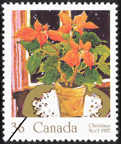 Poinsettia Canada Postage Stamp