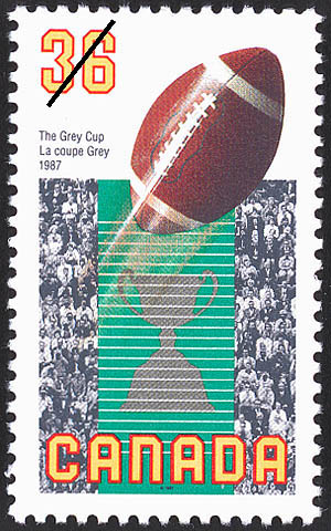 The Grey Cup, 1987 Canada Postage Stamp