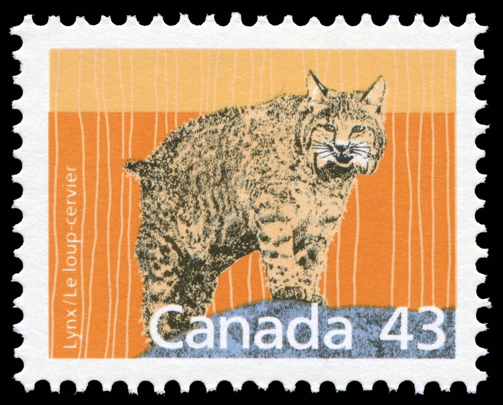 Lynx Canada Postage Stamp | Canadian Mammals