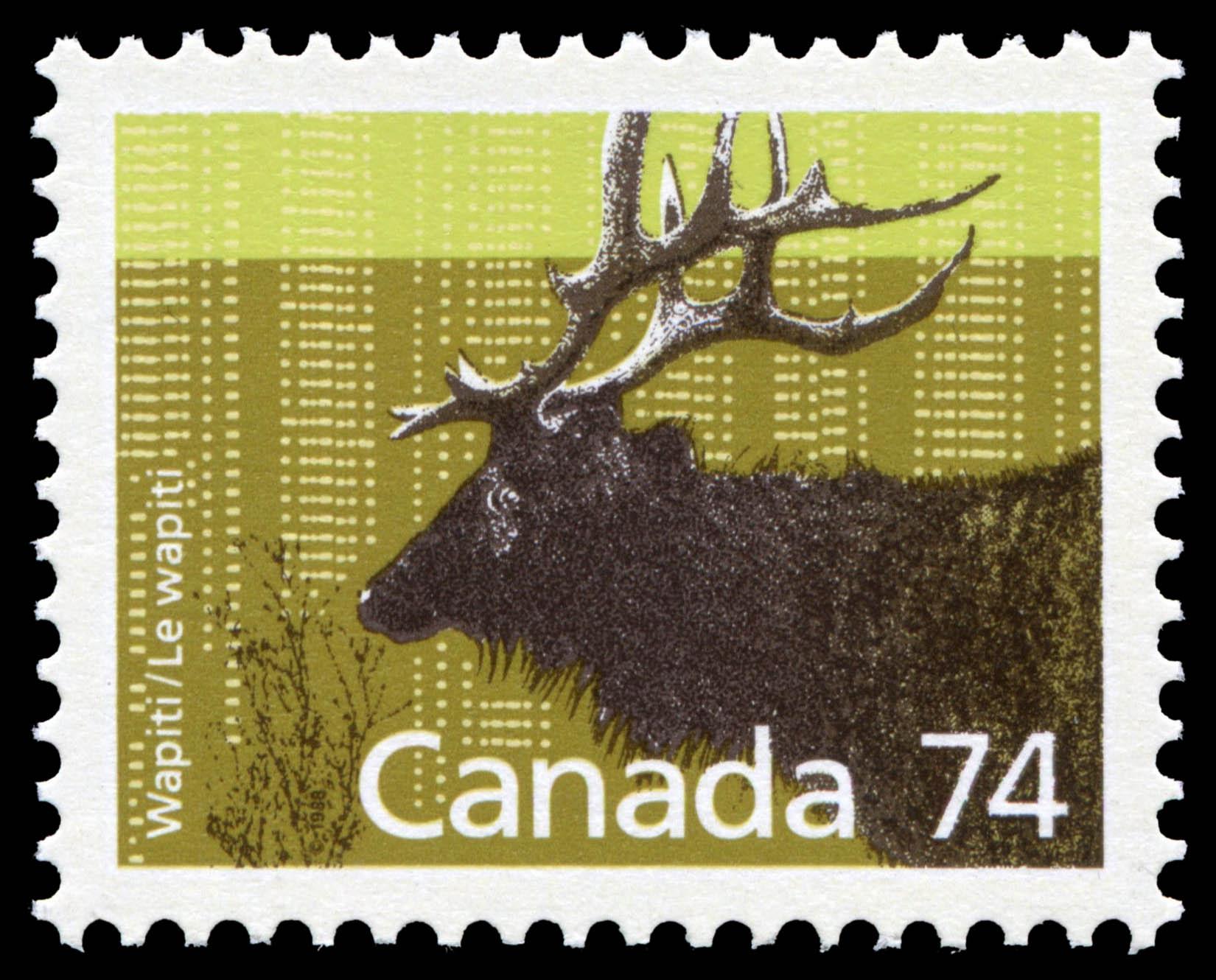 Wapiti Canada Postage Stamp