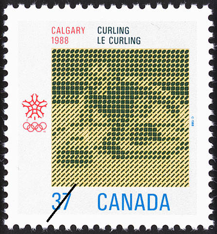 Curling, Calgary, 1988 Canada Postage Stamp