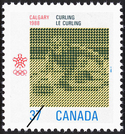 Curling, Calgary, 1988 Canada Postage Stamp | 1988 Olympic Winter Games