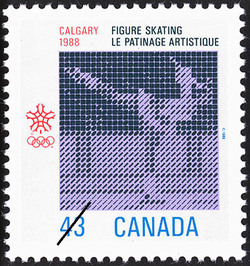Figure Skating, Calgary, 1988 Canada Postage Stamp | 1988 Olympic Winter Games