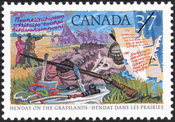 Anthony Henday on the Grasslands Canada Postage Stamp | Exploration of Canada, Recognizers