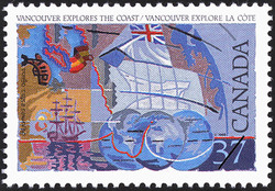 George Vancouver explores the Coast Canada Postage Stamp | Exploration of Canada, Recognizers