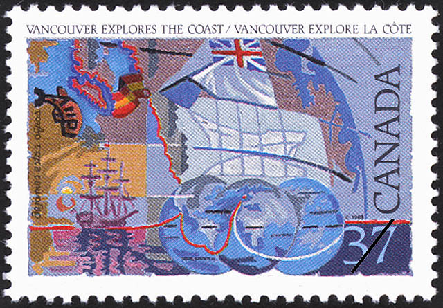 Vancouver explores the Coast Canada Postage Stamp