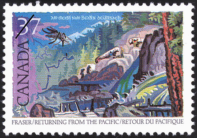 Simon Fraser, Returning from the Pacific Canada Postage Stamp | Exploration of Canada, Recognizers