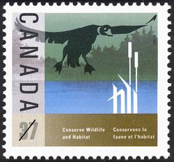 Duck Canada Postage Stamp | Conserve Wildlife Habitat
