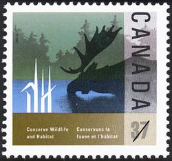 Moose Canada Postage Stamp | Conserve Wildlife Habitat