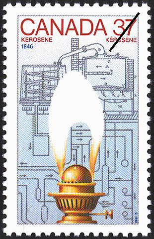 Kerosene, 1846 Canada Postage Stamp | Canada Day - Science and Technology, Canadian Innovations in Energy, Food, Research and Medicine