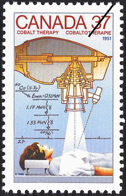 Cobalt Therapy, 1951 Canada Postage Stamp | Canada Day - Science and Technology, Canadian Innovations in Energy, Food, Research and Medicine