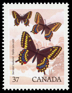 Short-tailed Swallowtail Canada Postage Stamp | Butterflies of Canada