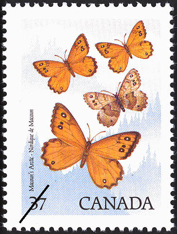 Macoun's Arctic Canada Postage Stamp | Butterflies of Canada