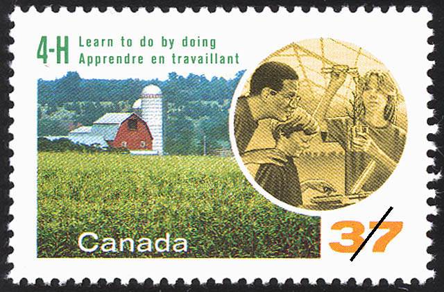 4-H, Learn to do by doing Canada Postage Stamp