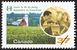 4-H Club, Learn to do by doing Canada Postage Stamp