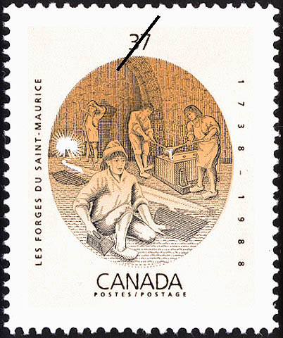 Les Forges du Saint-Maurice, 1738-1988 Canada Postage Stamp
