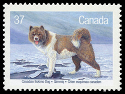 Canadian Eskimo Dog, Qimmiq Canada Postage Stamp | Dogs of Canada
