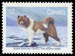 Canadian Eskimo Dog, Qimmiq Canada Postage Stamp | Dogs of Canada