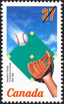 Baseball in Canada, 1838-1988 Canada Postage Stamp