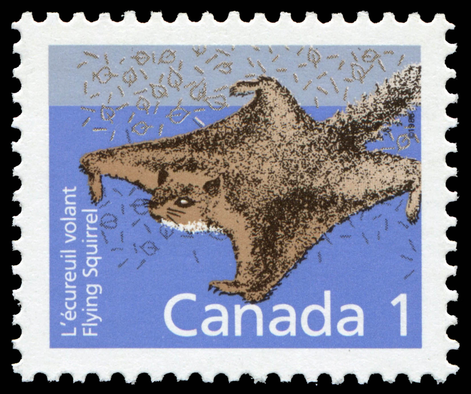 Flying Squirrel Canada Postage Stamp