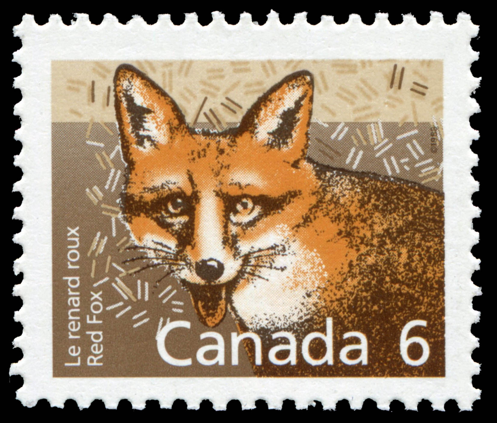 Red Fox Canada Postage Stamp | Small Canadian Mammals