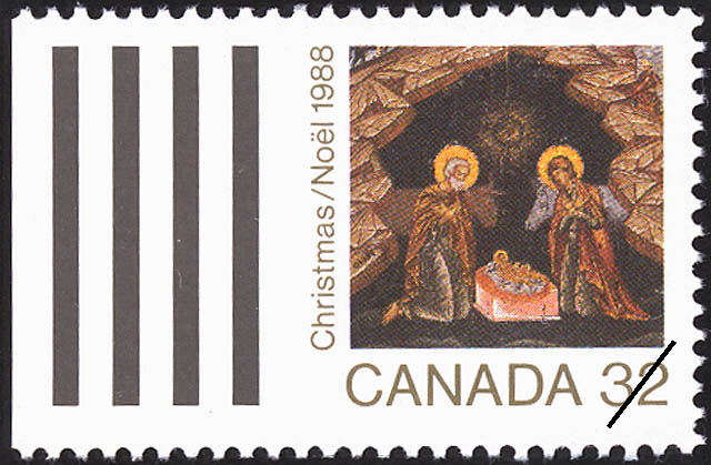 Nativity Canada Postage Stamp
