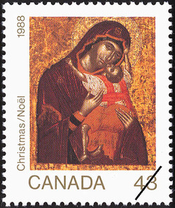 Madonna and Child Canada Postage Stamp | Christmas, Icons