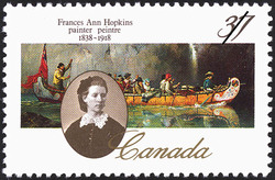 Frances Anne Hopkins, Painter, 1838-1919 Canada Postage Stamp