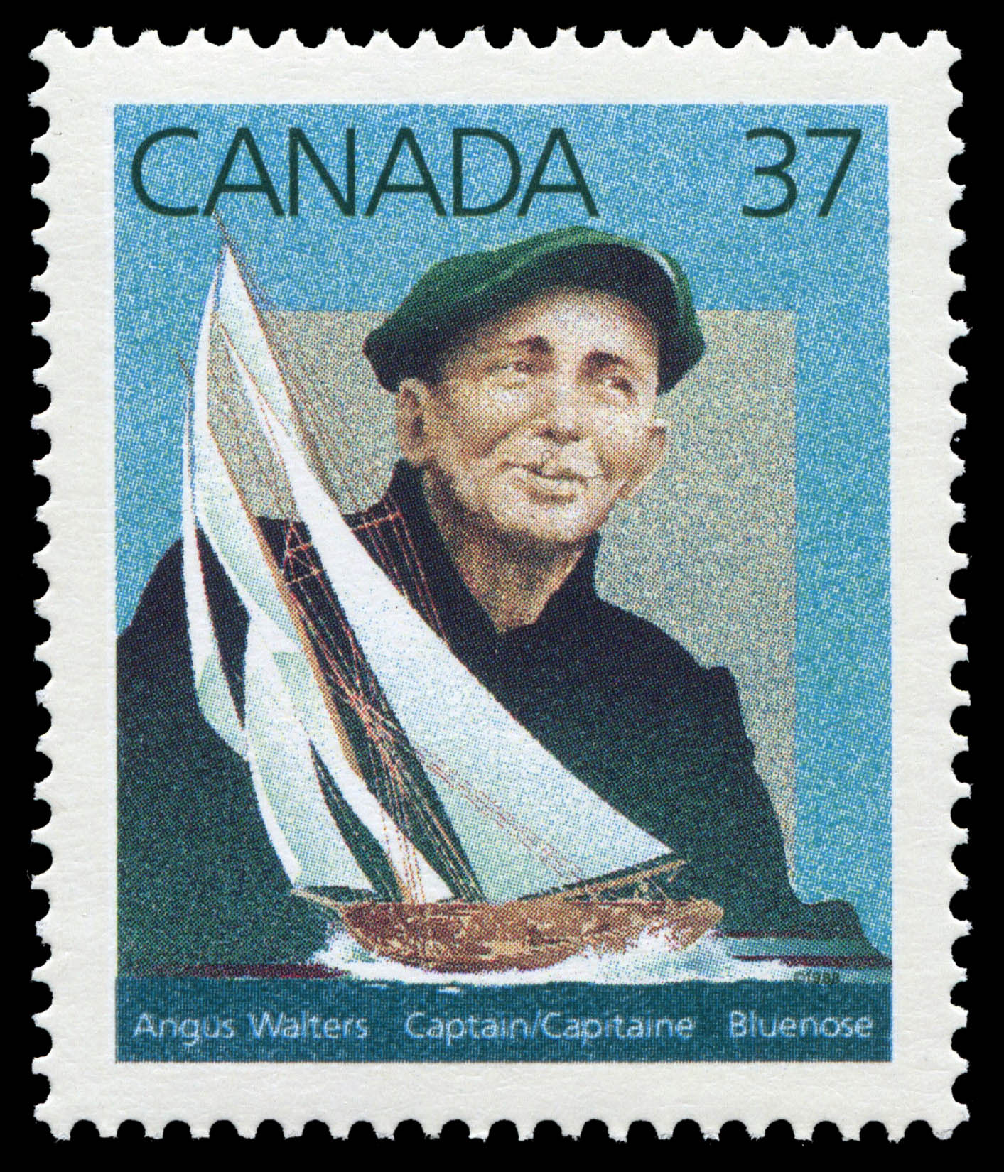 Angus Walters, Captain, Bluenose Canada Postage Stamp