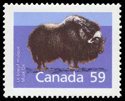 Musk Ox Canada Postage Stamp | Canadian Mammals