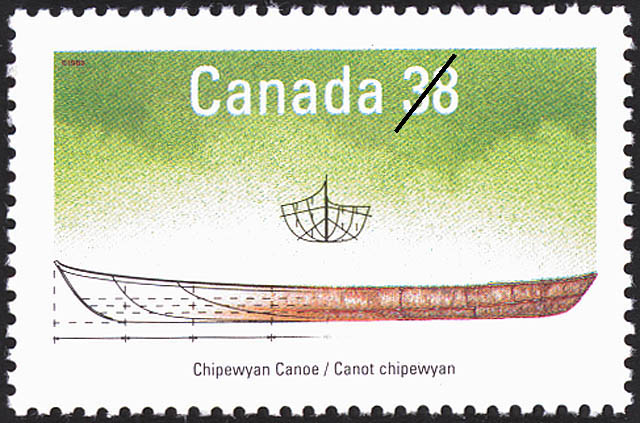 Chipewyan Canoe Canada Postage Stamp | Small Craft, Native Boats