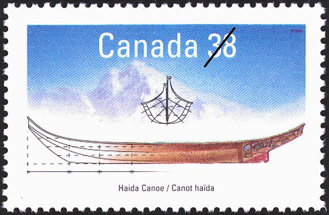 Haida Canoe Canada Postage Stamp