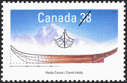 Haida Canoe Canada Postage Stamp | Small Craft, Native Boats