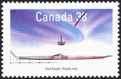 Inuit Kayak Canada Postage Stamp | Small Craft, Native Boats