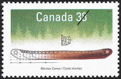 Micmac Canoe Canada Postage Stamp | Small Craft, Native Boats