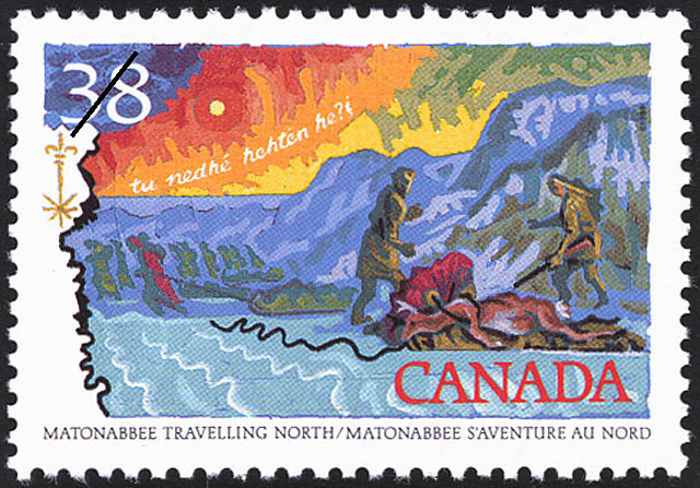 Matonabbee travelling North Canada Postage Stamp