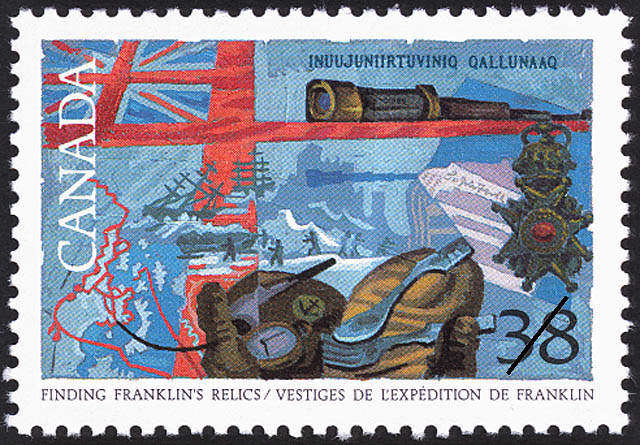 Finding Franklin's Relics Canada Postage Stamp | Exploration of Canada, Realizers