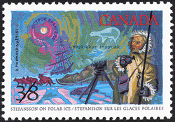 Stefansson on Polar Ice Canada Postage Stamp | Exploration of Canada, Realizers