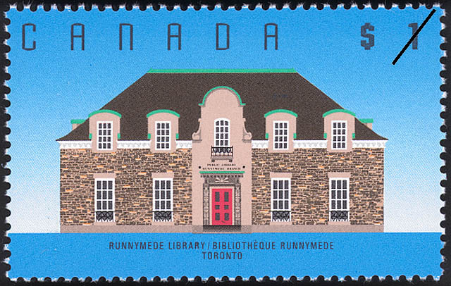Runnymede Library, Toronto Canada Postage Stamp | Architecture